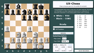 UX-Chess : Chess computer game for Silverlight®