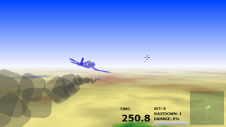 The Timed Dogfight : Third person view 3D aerial shooter game for Silverlight®