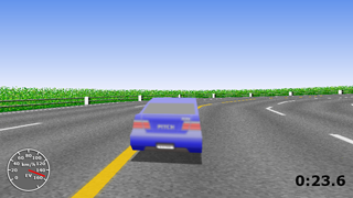 The Hill-Driving : Third person view 3D sports car hillclimb racing game for Silverlight®