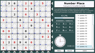 The Number Place : A sudoku-style puzzle game for Silverlight®